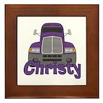 Trucker Christy Framed Tile