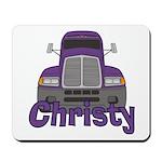 Trucker Christy Mousepad