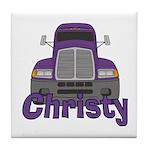 Trucker Christy Tile Coaster