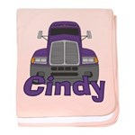 Trucker Cindy baby blanket