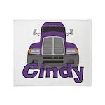 Trucker Cindy Throw Blanket
