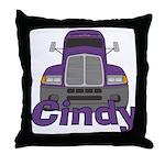 Trucker Cindy Throw Pillow