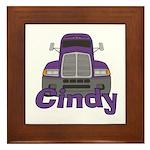 Trucker Cindy Framed Tile