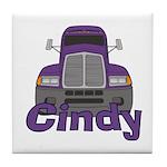 Trucker Cindy Tile Coaster