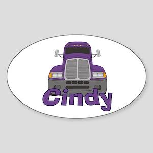 Trucker Cindy Sticker (Oval)