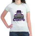 Trucker Claire Jr. Ringer T-Shirt