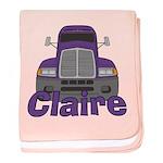 Trucker Claire baby blanket