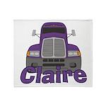 Trucker Claire Throw Blanket