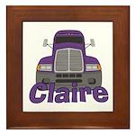 Trucker Claire Framed Tile