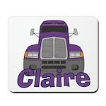 Trucker Claire Mousepad