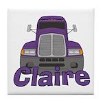 Trucker Claire Tile Coaster