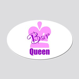 Bar Queen 20x12 Oval Wall Decal