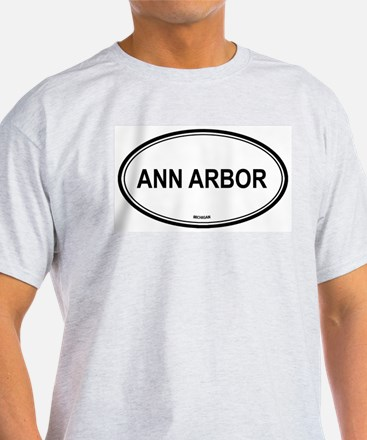 Ann Arbor (Michigan) Ash Grey T-Shirt