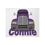Trucker Connie Throw Blanket