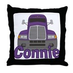 Trucker Connie Throw Pillow