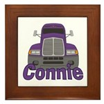 Trucker Connie Framed Tile