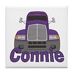 Trucker Connie Tile Coaster