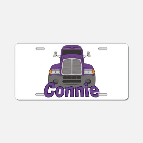 Trucker Connie Aluminum License Plate