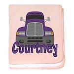 Trucker Courtney baby blanket