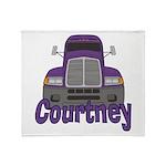 Trucker Courtney Throw Blanket