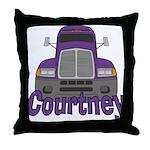 Trucker Courtney Throw Pillow