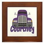 Trucker Courtney Framed Tile