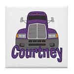 Trucker Courtney Tile Coaster