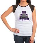 Trucker Crystal Women's Cap Sleeve T-Shirt