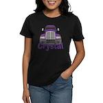 Trucker Crystal Women's Dark T-Shirt