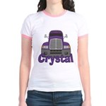 Trucker Crystal Jr. Ringer T-Shirt