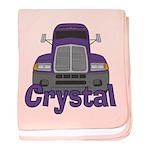 Trucker Crystal baby blanket