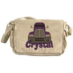 Trucker Crystal Messenger Bag