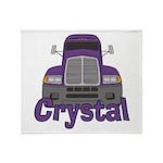 Trucker Crystal Throw Blanket