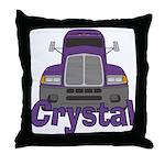 Trucker Crystal Throw Pillow