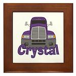 Trucker Crystal Framed Tile