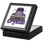 Trucker Crystal Keepsake Box