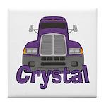 Trucker Crystal Tile Coaster