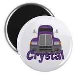 Trucker Crystal Magnet