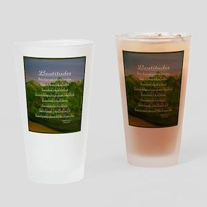 Beatitudes Green Drinking Glass