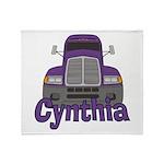 Trucker Cynthia Throw Blanket