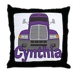 Trucker Cynthia Throw Pillow