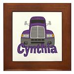 Trucker Cynthia Framed Tile