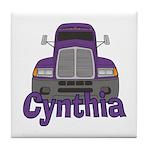 Trucker Cynthia Tile Coaster