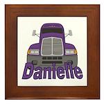 Trucker Danielle Framed Tile