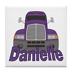 Trucker Danielle Tile Coaster