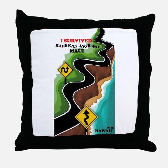 Cute Highway Throw Pillow