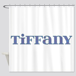 Tiffany Blue Glass Shower Curtain