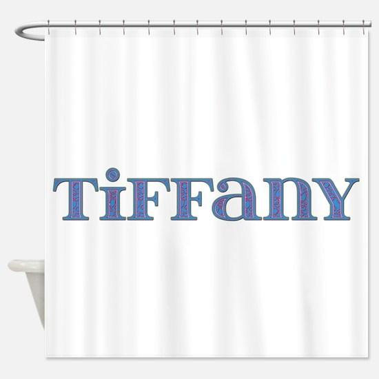 Tiffany Blue Glass Shower Curtain