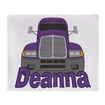 Trucker Deanna Throw Blanket