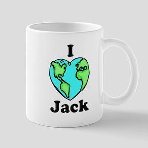I heart globe Jack Mug